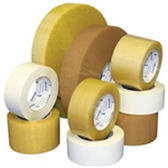 "TCST901530T Medium Duty Natural Rubber Tape 2"" x 55 yds. 2.2 Mil"