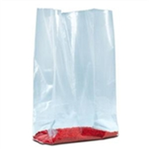 "Gusseted Poly Bags - 1.5 Mil PB1400 4 x 2 x 8"" 1 1/2 Mil"