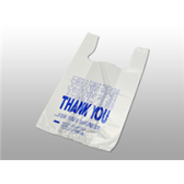 "PB1923TY Thank You Pre-printed T-Shirt Bags ""Thank You"" Pre-prin"