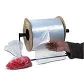 """AB208 2 Mil Poly Bags on Roll - Kwik-Fill® Pre-Opened Bags 4 x 4"""" 2 Mil Medium"""