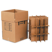 Dish Pack Box 18 x 18 x 28 350# / 51 ECT DW Printed Room Locator Check-Off Box  Product Number: BSDISHPACK