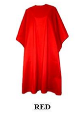 Iridescent Colored Water Repellent Shampoo/Cutting Capes-Red-w