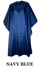 Iridescent Colored Water Repellent Shampoo/Cutting Capes-Navy Blue-w