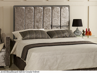 Avril bed headboard Silver Crush Velvet