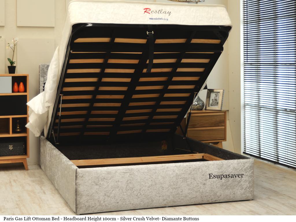 Paris Ottoman Storage Gas Lift Bed