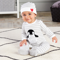 Mod Tot Penguins PJs 2 Piece Baby Layette Gift Set