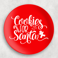 Red Cookies for Santa Christmas Melamine Plate