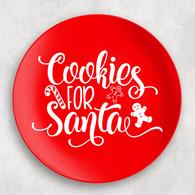 Red Cookies for Santa Christmas Melamine Plate