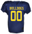 Bulldog Youth Football Authenticate Game Jersey - Navy