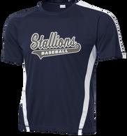 2015 Stallions Colorblock Performance Tee (F045)