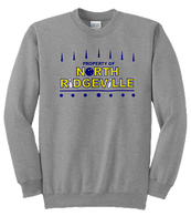 Mens Crewneck Front - North Ridgeville Bowling log