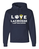 OF Ladies Love Lacrosse Hoody - Navy