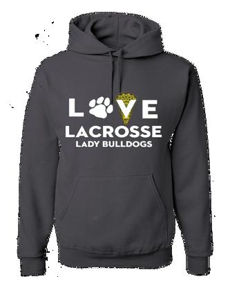 OF Ladies Love Lacrosse Hoody - Grey