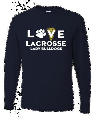 Love Lacrosse Lady Bulldogs - Navy