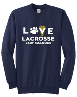 OF Ladies Love Lacrosse Hooded Sweatshirt - Navy