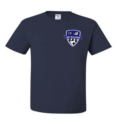 OF Lady Bulldogs Soccer Tee - Navy