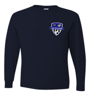 OF Lady Bulldogs Soccer LS Tee - Navy