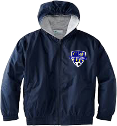 OF Lady Bulldogs Performance Jacket - Navy