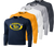 Long Sleeve - Navy, Gold, White, Silver, Iron Grey