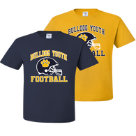 Bulldog Youth Football Tee