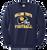 Bulldog Youth Football Crewneck - Navy