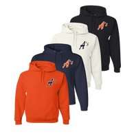 A's Logo Left Chest - Orange, Navy, White and Black