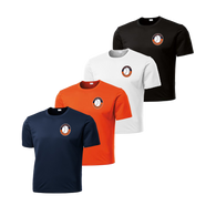 Left Chest Shield Logo - Navy, Deep Orange, White and Black