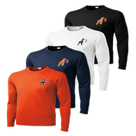 A's Left Chest Logo - Navy, Deep Orange, White and Black