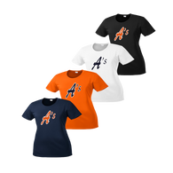 Full Front A's Logo - Navy, Deep Orange, White, Black