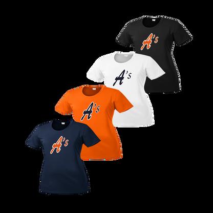 Full Front A's Logo - Navy, Deep Orange, White, Black