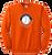 Full Front Shield Logo - Orange