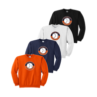 Full Front Shield Logo - Orange, Navy, White and Black