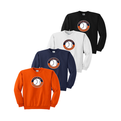 Full Front Shield Logo - Orange, Navy, White and Black