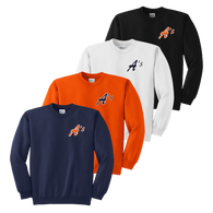 Left Chest A's Logo - Navy, Orange, White and Black