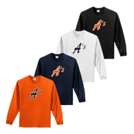 Full Front A's Logo - Orange, Navy, White and Black