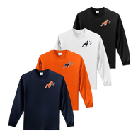 A's Logo Left Chest - Navy, Orange, White and Black