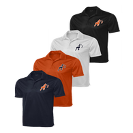 A's logo embroidered left chest - Navy, Deep Orange, White and Black