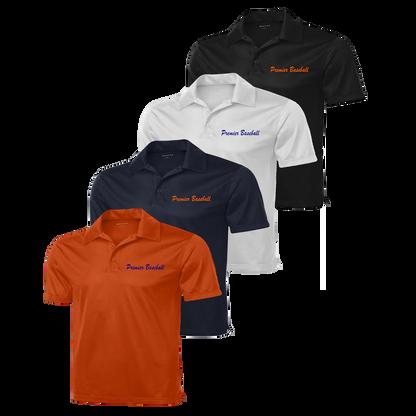Premier Baseball embroidered left chest - Deep Orange, Navy, White and Black