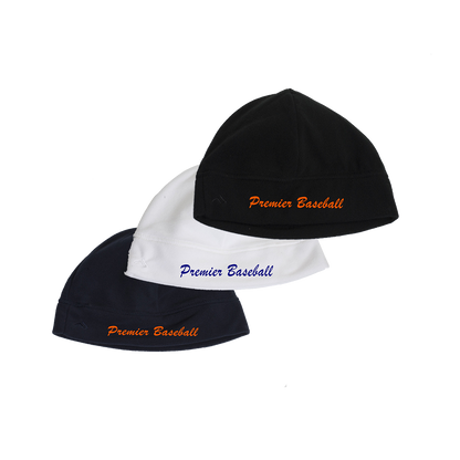 Premier Beanie - Script Logo - Navy, White and Black