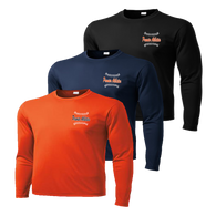 Left Chest Ball Stitch Logo - Deep Orange, Navy, and Black