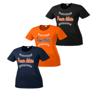 Full Front Ball Script Logo - Navy, Orange and Black