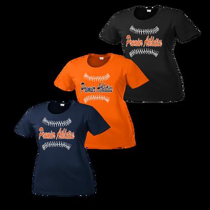 Full Front Ball Script Logo - Navy, Orange and Black