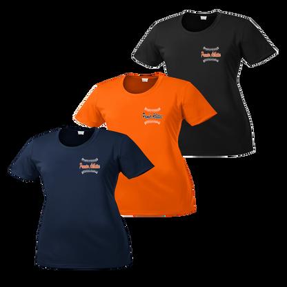 Left Chest Ball Stitch Logo - Navy, Deep Orange and Black