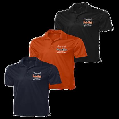 Ball Stitch Logo Embroidered - Navy, Deep Orange and Black