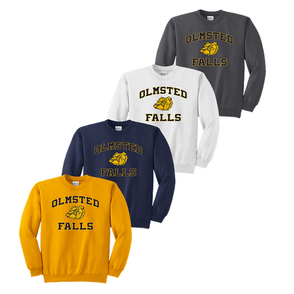 Bulldog Crewneck - Gold, Navy, White and Charcoal