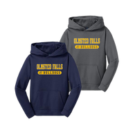 Bulldog Youth Performance Hoody - Navy and Dark Smoke Grey