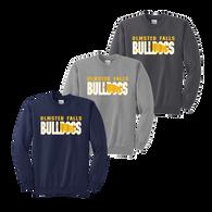 Bulldog Shadow Crewneck - Navy, Athletic Heather, Charcoal