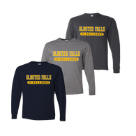 Olmsted Falls Bulldogs LS Tee - Navy, Oxford, Charcoal