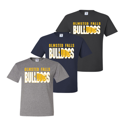 Olmsted Falls Bulldogs Shadow Tee - Oxford, Navy, Charcoal