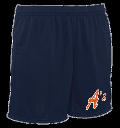 A's Logo Left Leg - Navy